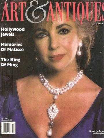 Elizabeth Taylor wears the Peregrina pearl