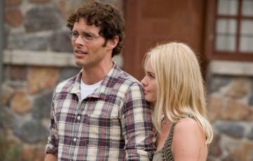 """James Marsden and Kate Bosworth in """"Straw Dogs."""""""