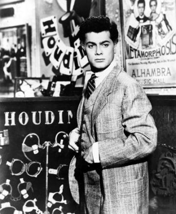 Tony Curtis as magician and escape artist Harry Houdini in the 1953 Hollywood mo