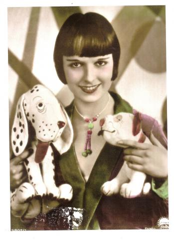 Louise Brooks hand-tinted promo still (1927)