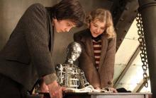 "Asa Butterfield and Chloe Moretz in ""Hugo."""