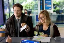 Seth Rogen, left, and Barbra Streisand in The Guilt Trip, opening in theaters to
