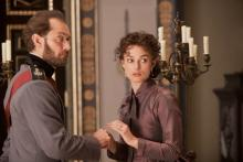 Jude Law as Count Alexei Karenin lives by the rules, but Keira Knightley as his