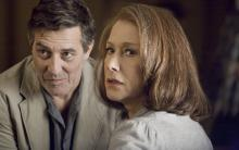 """Ciaran Hinds, left, and Helen Mirren must face the past in """"The Debt."""""""